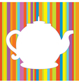 Tea pot menu funny background vector image