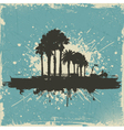 vintage palm tree background vector image