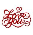 inscription love you vector image