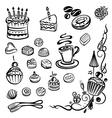 Coffee cakes chocolate vector image