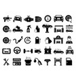 different details of automobile car services vector image