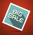 Big Sale Title on Red Background vector image vector image