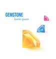 Gemstone isolated on white background vector image