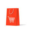 shoplifting red handbag on a white background vector image vector image