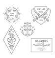 Vintage and retro style logos design vector image