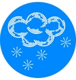 snow weather icon vector image