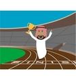 Arabian businessman wins the trophy vector image vector image