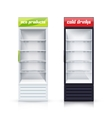 Two Empty Fridges Realistic vector image
