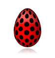 Red egg in black peas for your design vector image vector image
