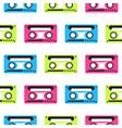 audio tape neon seamless pattern vector image