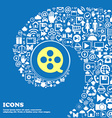 Film sign symbol Nice set of beautiful icons vector image
