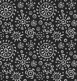 hand drawn tribal seamless pattern vector image