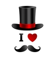 I love gentleman card vector image