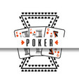 poker poster casino gamble risk cards vector image