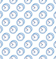 Stylish clock seamless pattern vector image