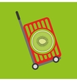 trolley shop juicy kiwi fruit vector image