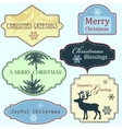 Merry Christmas frames set vector image