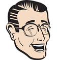 Retro dad with glasses vector image vector image