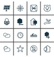 set of 16 eco-friendly icons includes clear vector image