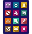 Set of icons of the signs of the zodiac vector image vector image