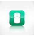 Mouse web icon Application button vector image vector image