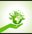 Save nature concept with eco cityscape vector image