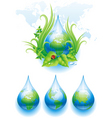 world droplet vector image vector image