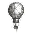 Hot Air Balloon logo design template retro vector image