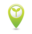 eco GREEN map pointer vector image