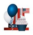inited states celebration vector image