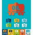 Flat design oil tank vector image