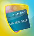 Credit card Protect Shield Gold Finance vector image