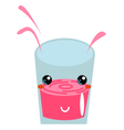 Strawberry pink healthy Smoothie vector image vector image