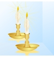 A candle and a mirror vector image