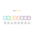 business infographics timeline with 8 options vector image