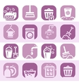 color cleaning icons set vector image