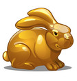 golden figure of rabbit chinese horoscope symbol vector image