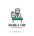 linear icon - personal assistant vector image