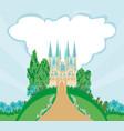 magic fairytale princess castle vector image