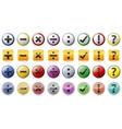 Mathematics symbols icon stickers vector image