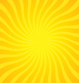 popular gold color twist rotate ray background vector image