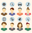 Set of portraits of companys employees isolated on vector image