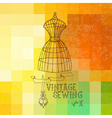 vintage sewing vector image