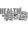 Web health answers text word cloud concept vector image