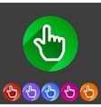Drag hand flat icon vector image