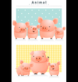 Animal background with Pigs 1 vector image