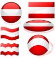austria flags vector image vector image