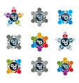 gears - enterprise system theme busine vector image