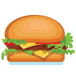 Hamburger icon isolated on white food vector image