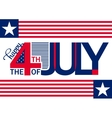 Happy Independence Day horizontal backgrond July vector image